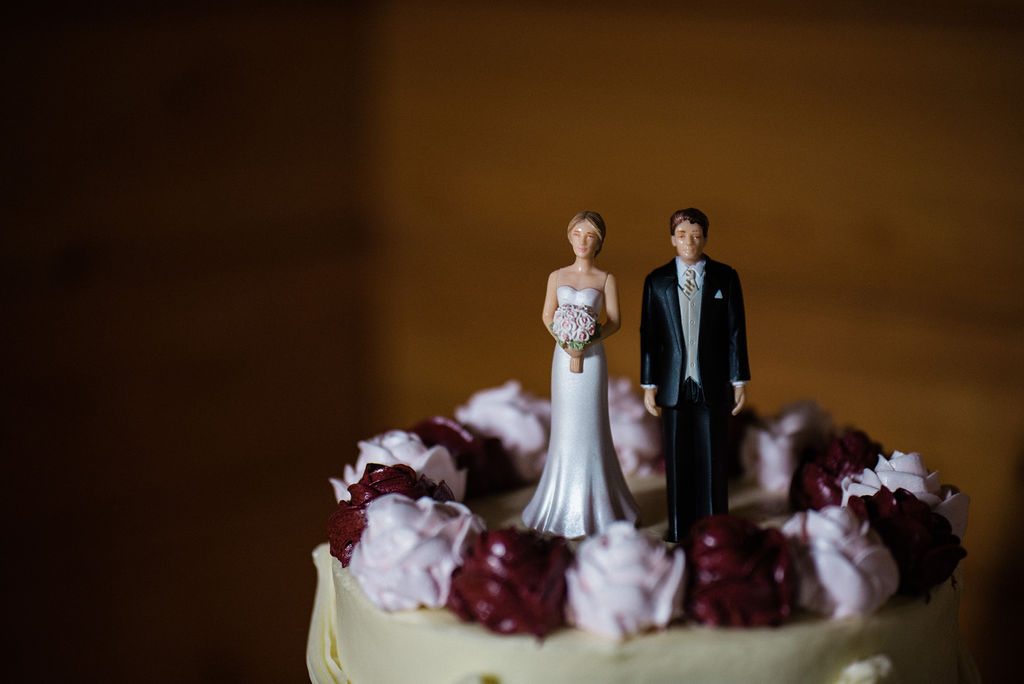 Wedding Cake and Toppers at Historic Rural Hill by Charlotte Wedding Photographers