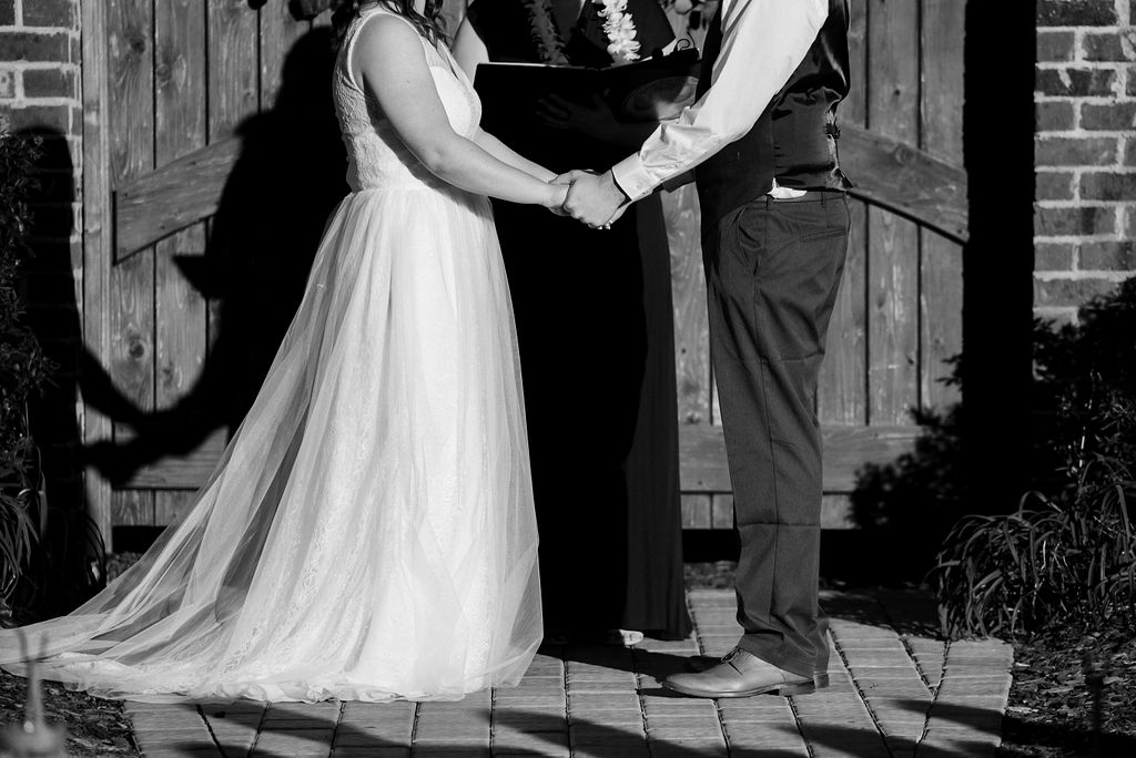 Wedding Ceremony at The Oaks at Salem Wedding in Apex, NC by Charlotte Wedding Photographers
