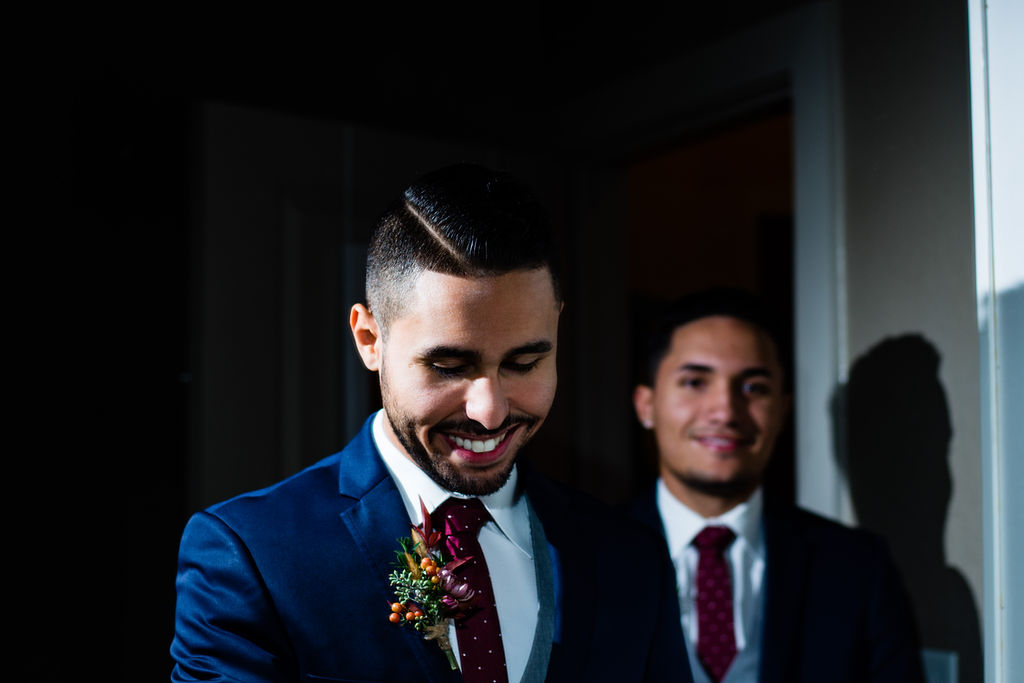 Groom Getting Ready in Huntersville NC by Charlotte Wedding Photographers