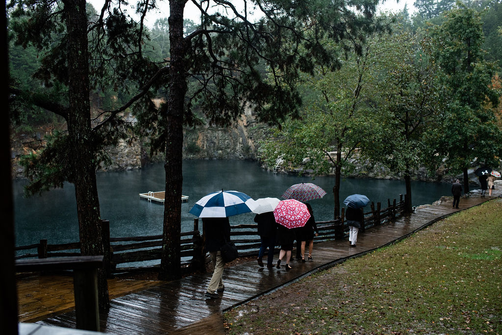 Rainy Day Quarry at Carrigan Farms Wedding by Charlotte Wedding Photographers