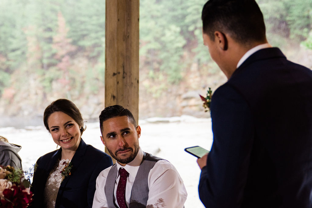 Best Man Toast Speech at Reception at Quarry at Carrigan Farms by Charlotte Wedding Photographers