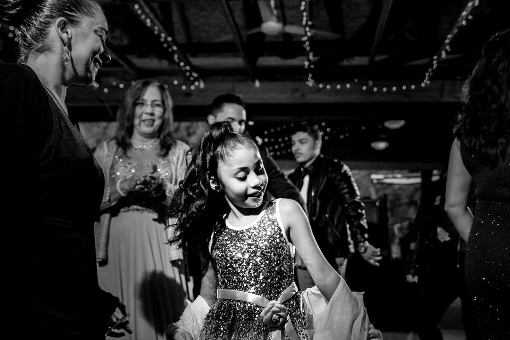 Dancing at Reception at Quarry at Carrigan Farms by Charlotte Wedding Photographers