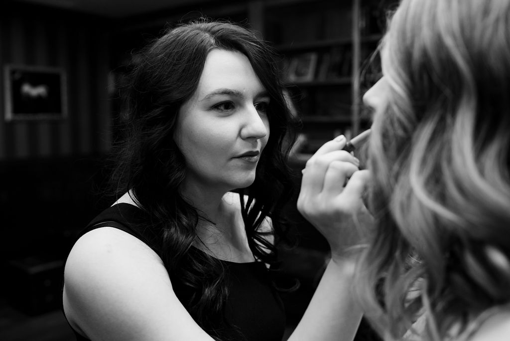 Bride Getting Ready at 8.2.0 Wedding by Charlotte Wedding Photographers