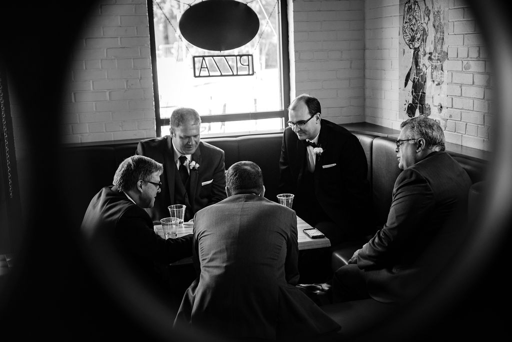 Groomsmen at 8.2.0 Wedding by Charlotte Wedding Photographers