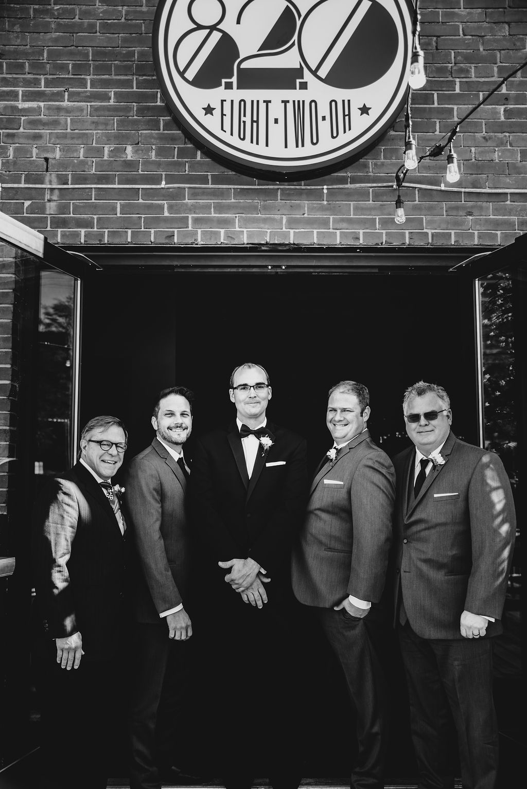 Groom and Groomsmen at 8.2.0 Wedding by Charlotte Wedding Photographers