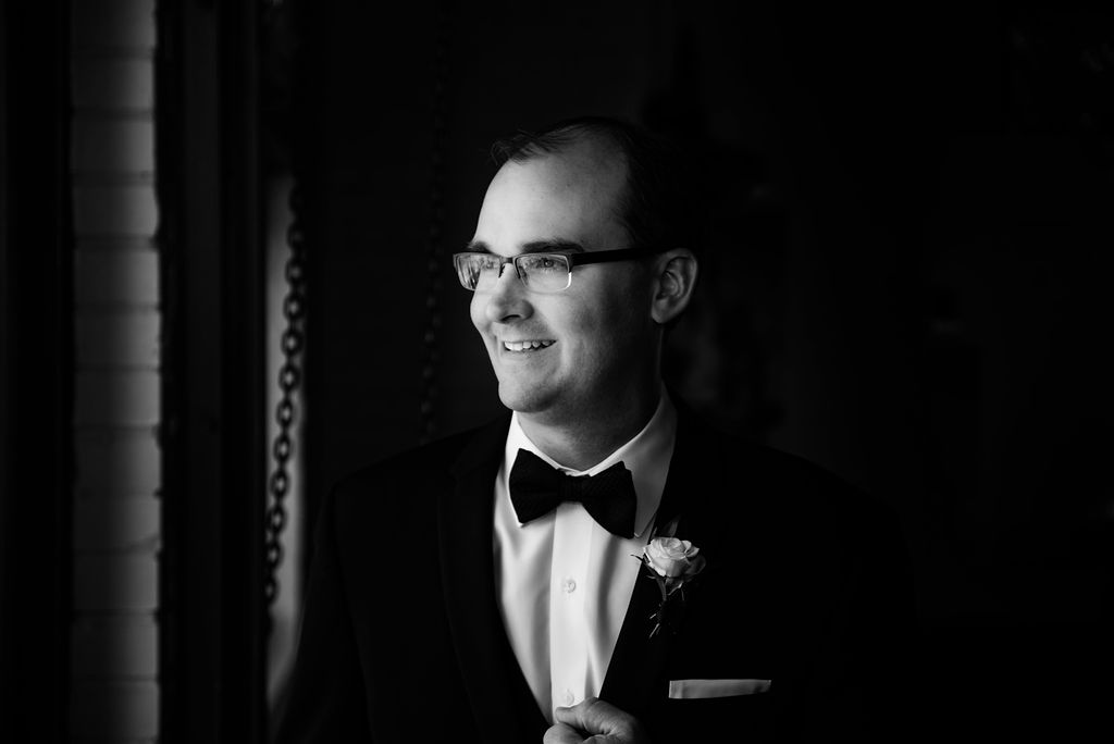 Groom Portrait at 8.2.0 Wedding by Charlotte Wedding Photographers