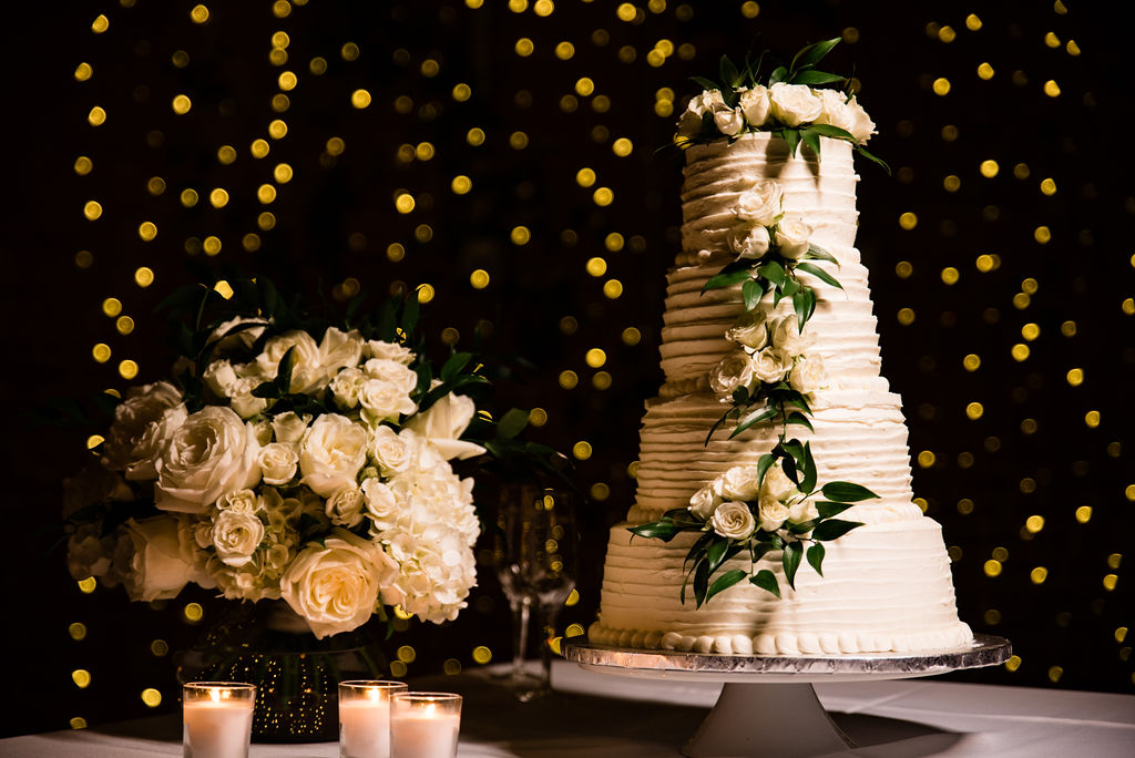 Cake and Bouquet at 8.2.0 Wedding by Charlotte Wedding Photographers