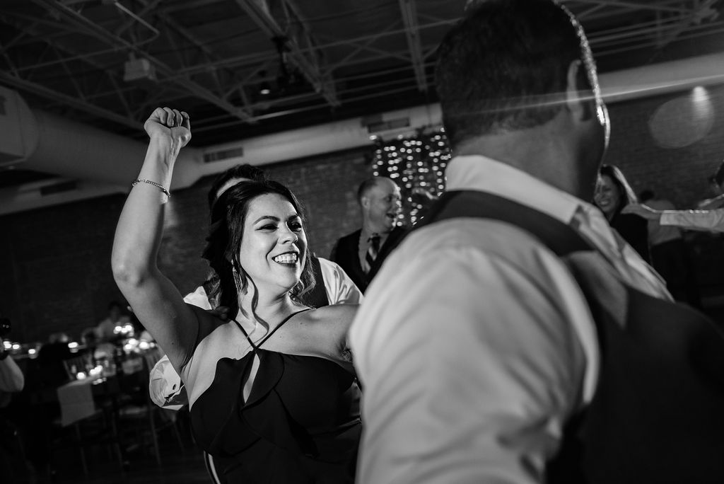 Reception Dance Floor at 8.2.0 Wedding by Charlotte Wedding Photographers