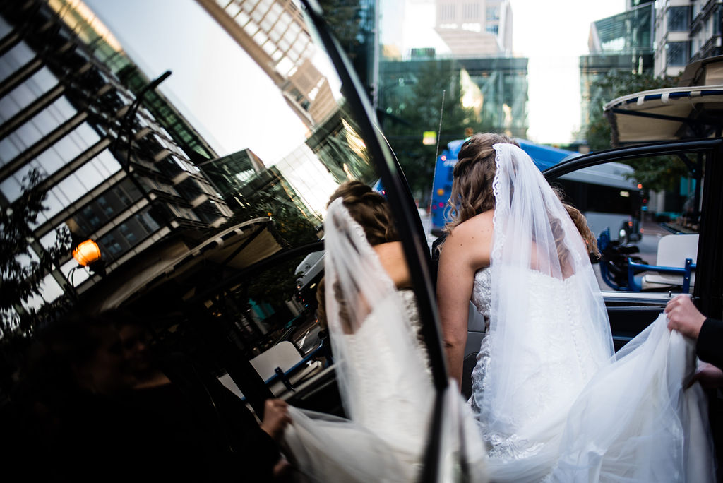 Bride Getting Ready at Aloft Charlotte by Charlotte Wedding Photographers
