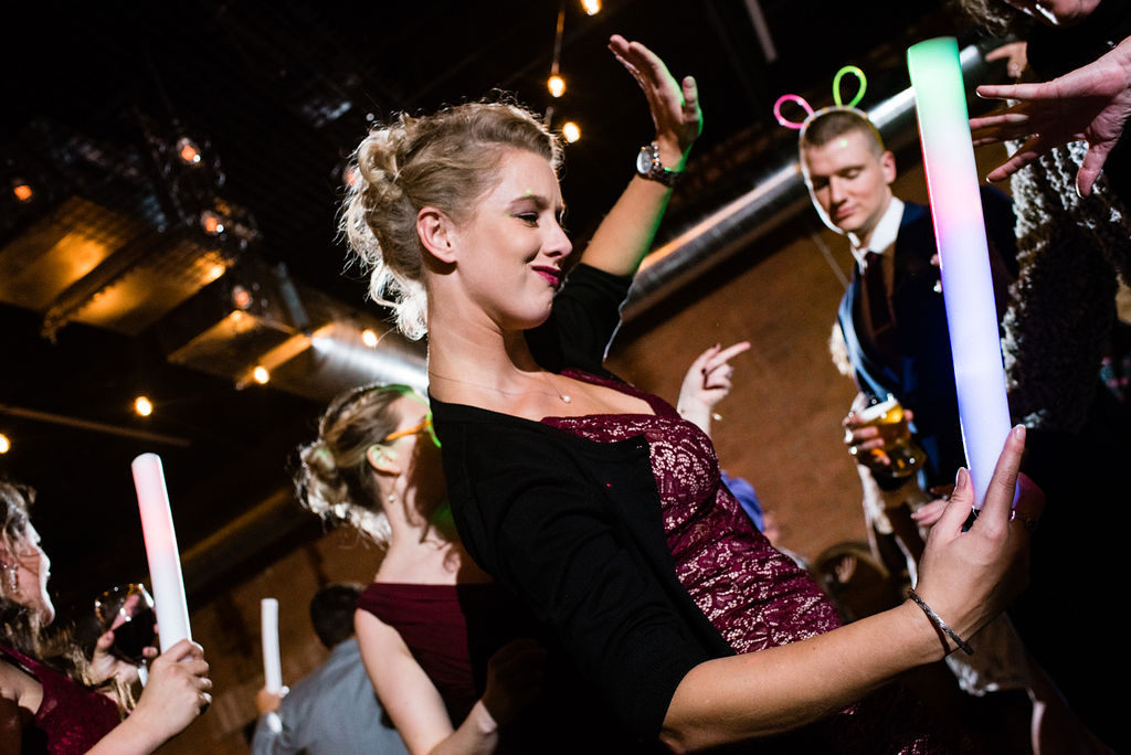 Live Band Open Dance Floor Reception at Triple C Barrel Room by Charlotte Wedding Photographers