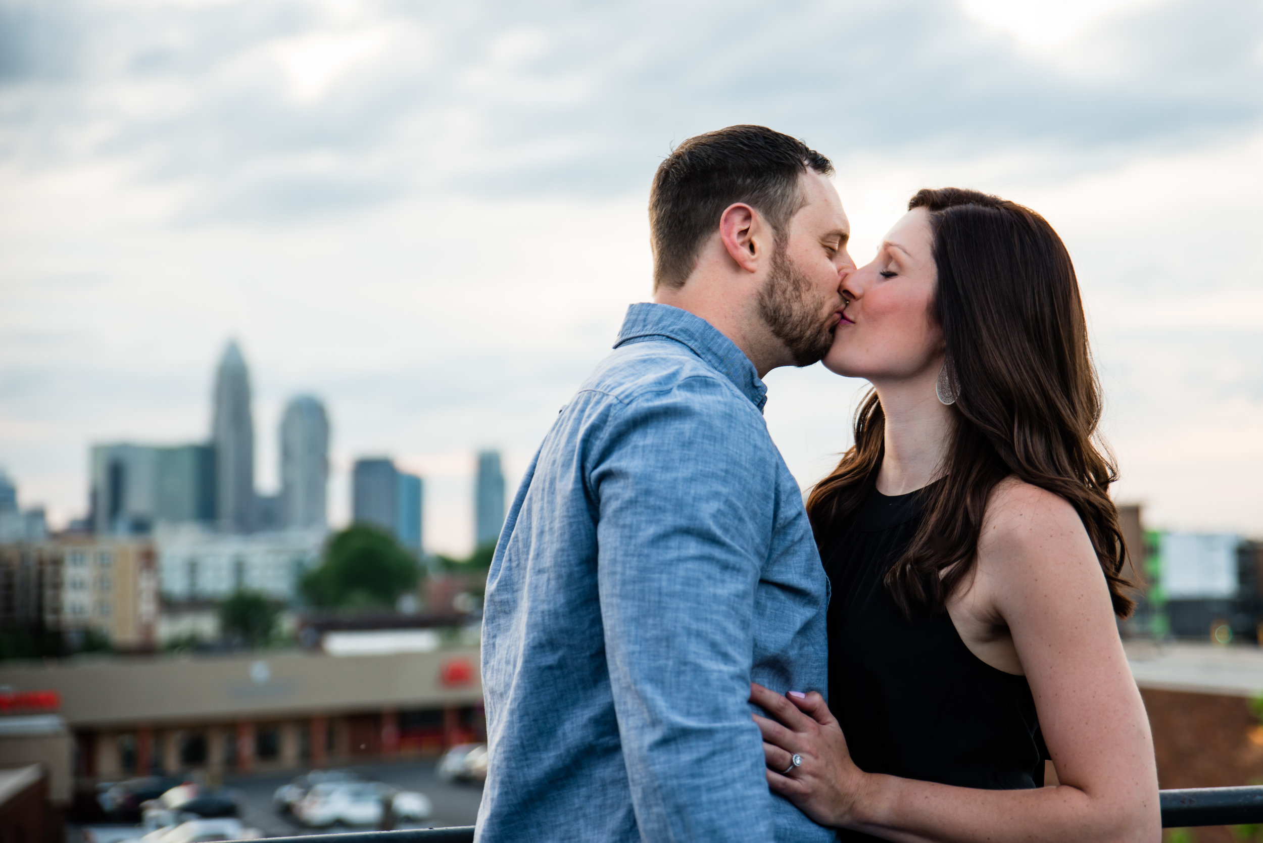 Peculiar Rabbit Engagement Shoot in Plaza Midwood from Charlotte NC Wedding Photographers