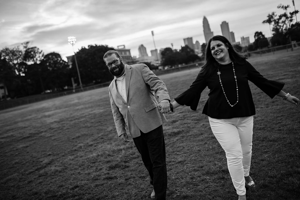 Uptown Views at Independence Park Engagement Session by Charlotte Wedding Photographers