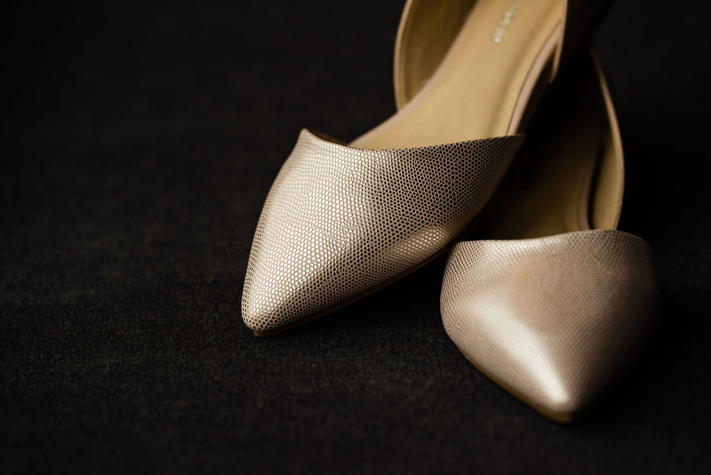 Bride's shoes, details by Charlotte Wedding Photographers