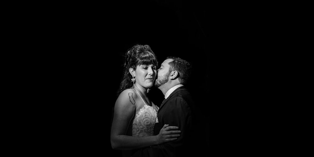 Bride and Groom Portrait by Charlotte Wedding Photographers