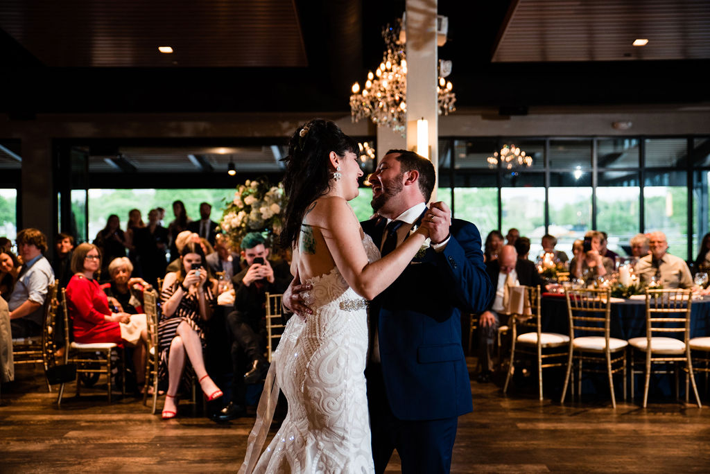 Reception and First Dance at Terrace at Cedar Hill by Charlotte Wedding Photographers