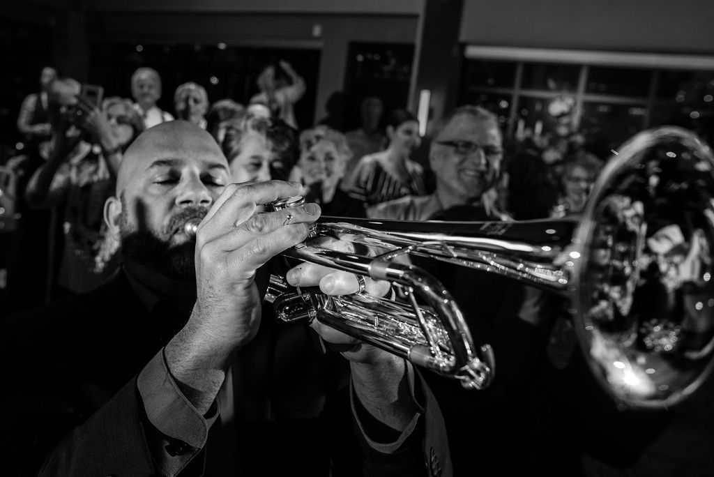 Blow House Brass Band at Reception at Cedar Hill by Charlotte Wedding Photographers