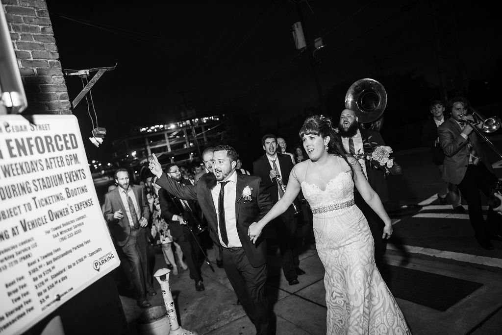 Wedding Exit by Charlotte Wedding Photographers