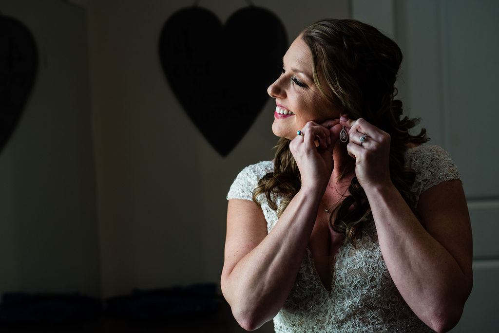 Bride Getting Ready at Sweet Magnolia Estate by Charlotte Wedding Photographers
