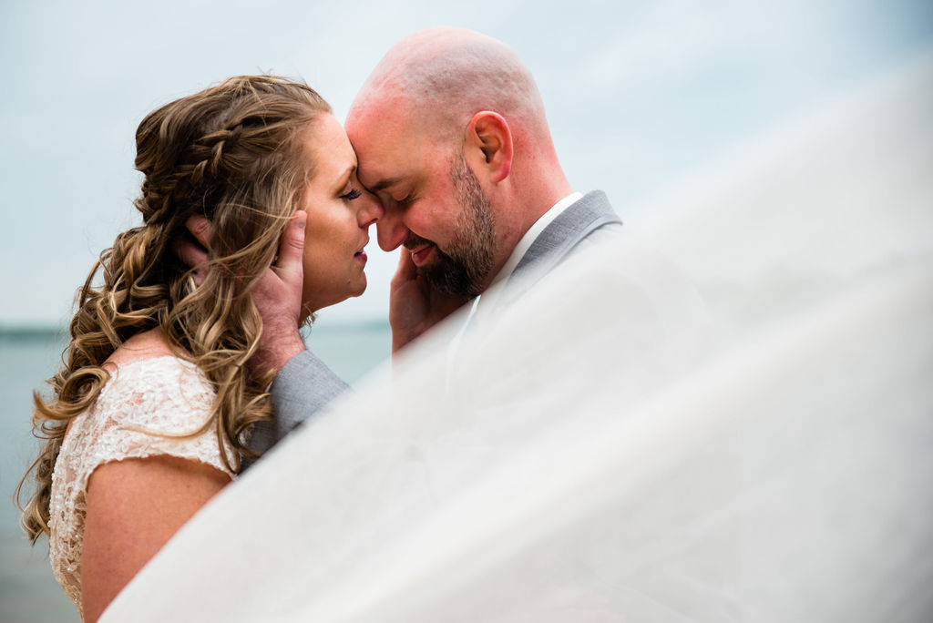 Bride and Groom at Jetton Park by Charlotte Wedding Photographers