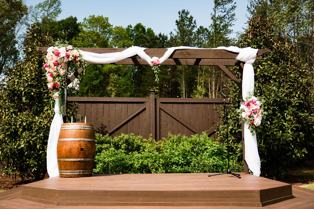 Ceremony at Sweet Magnolia Estate by Charlotte Wedding Photographers