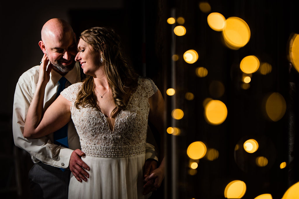Bride and Groom at Sweet Magnolia Estate by Charlotte Wedding Photographers
