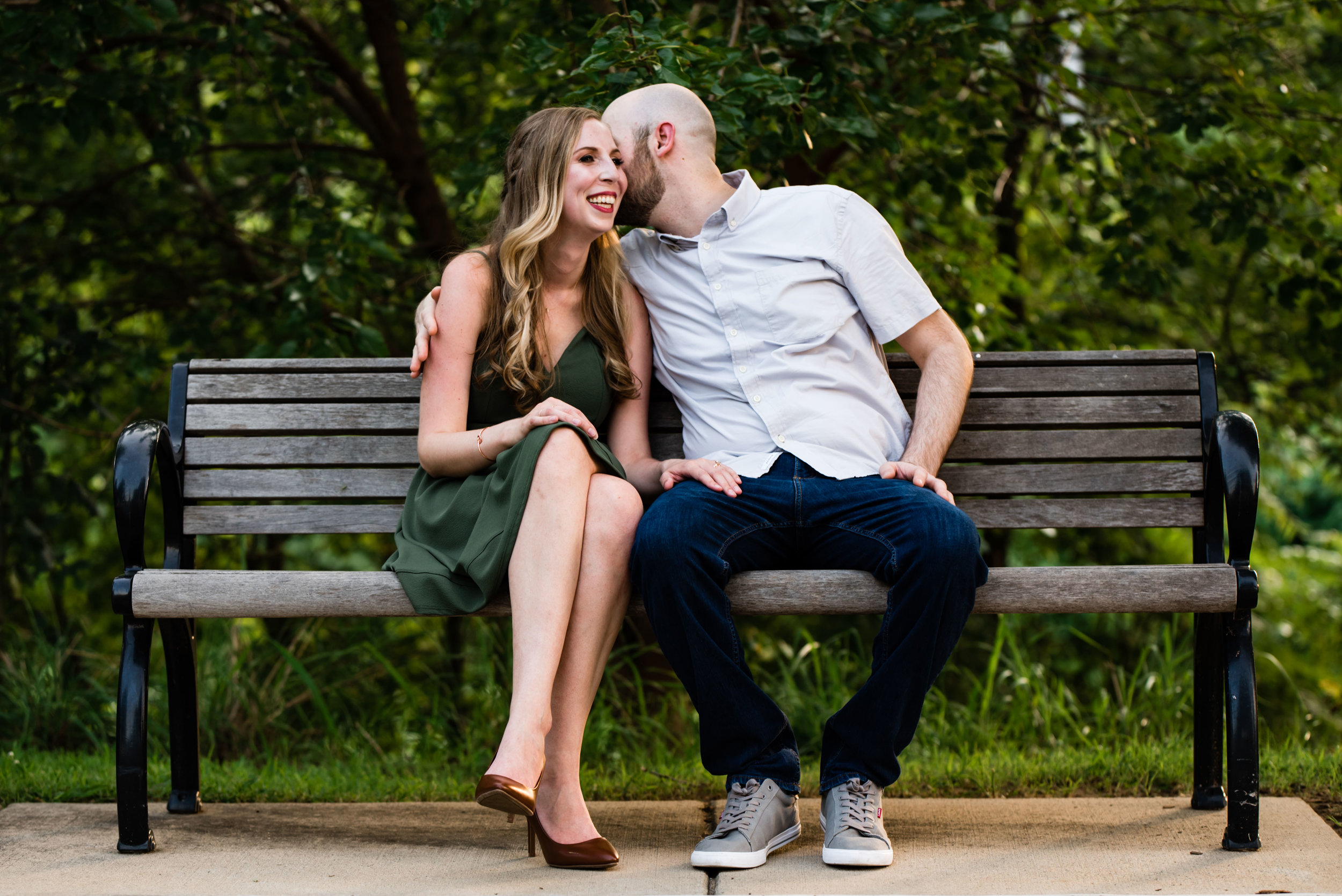 Little Sugar Creek Greenway Couple's Engagement Session by Charlotte Wedding Photographers