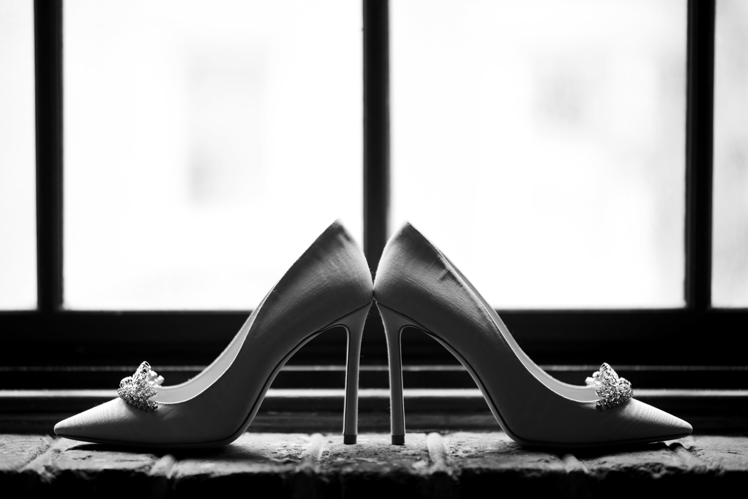 Bridal Shoes at The Harbour Club Charleston by Charlotte Wedding Photographers