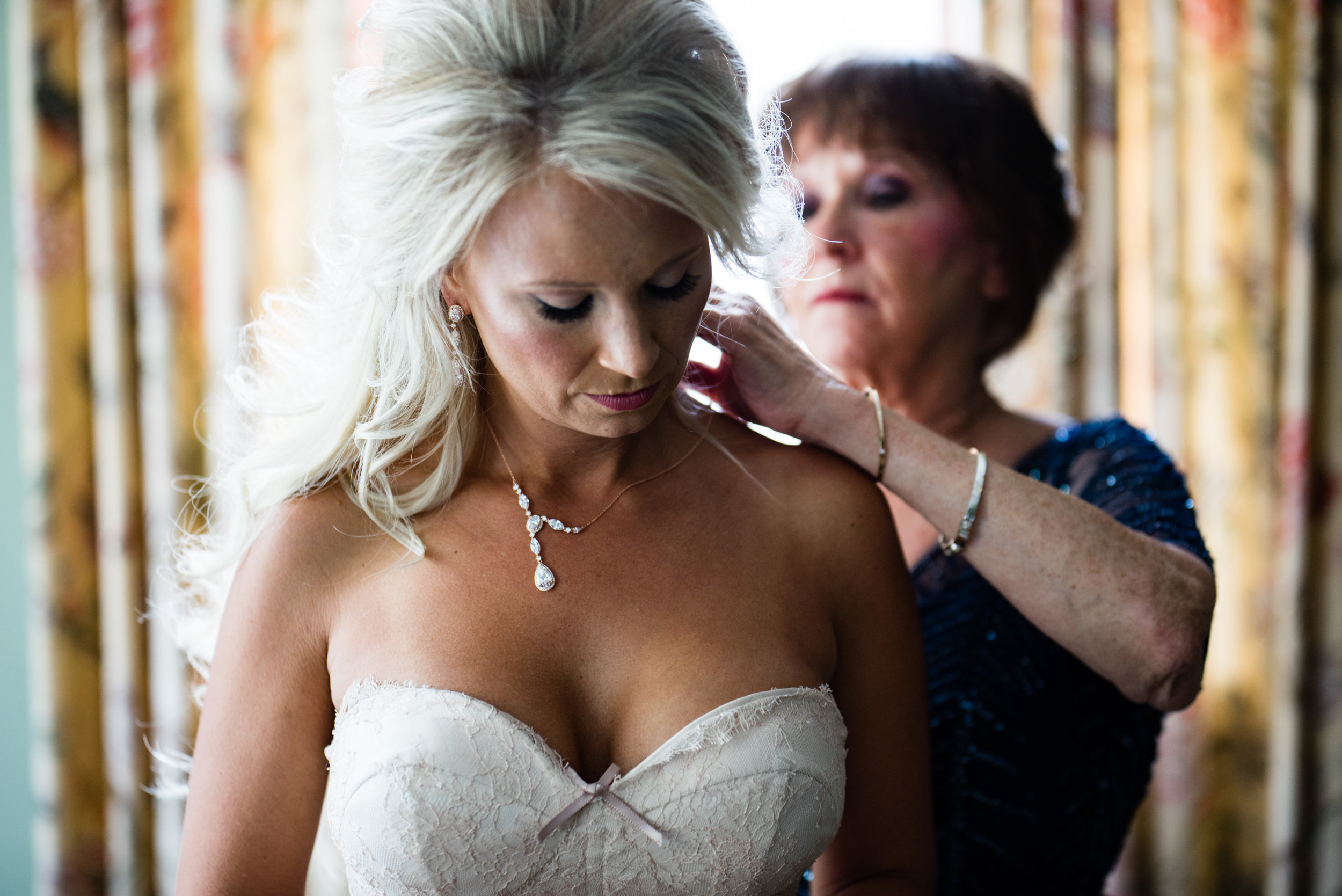 Getting Ready with Mother of the Bride at The Harbour Club Charleston by Charlotte Wedding Photographers