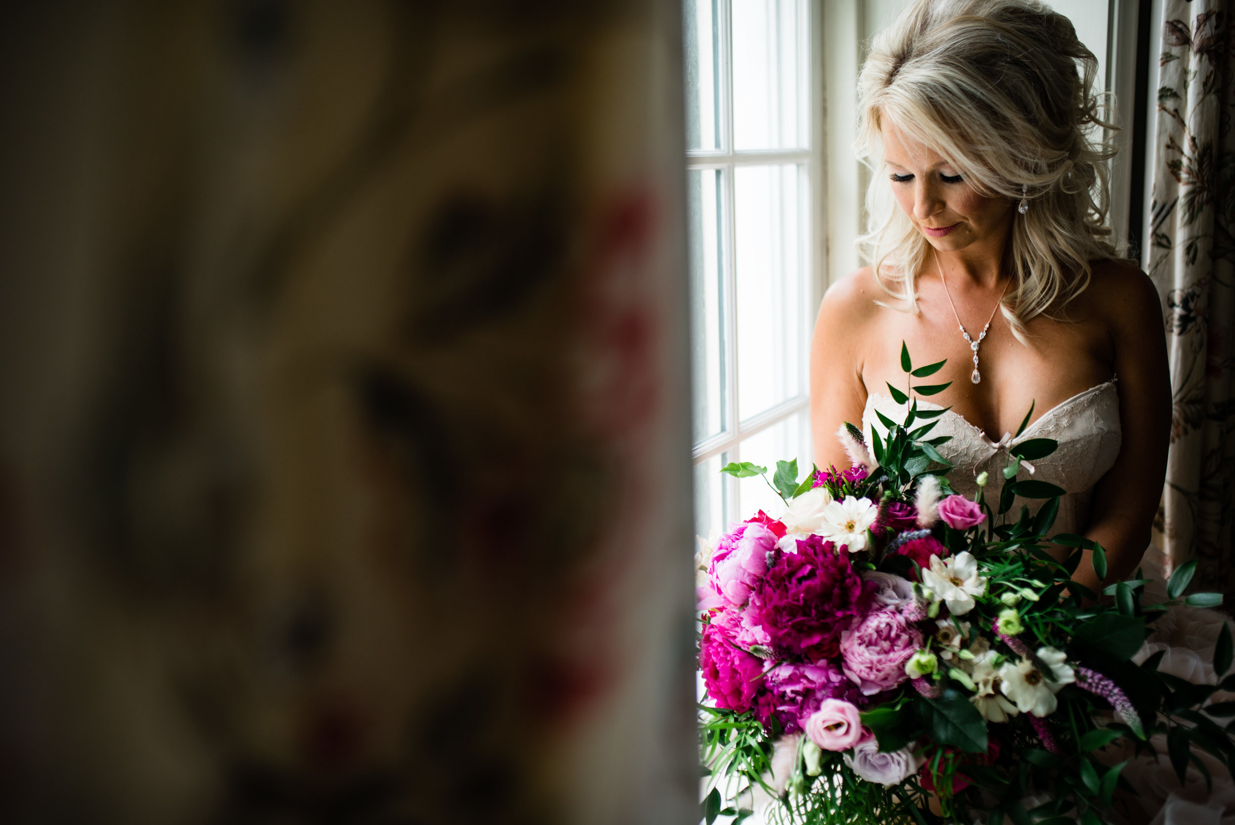 Bridal Portrait and Bouquet at The Harbour Club Charleston by Charlotte Wedding Photographers