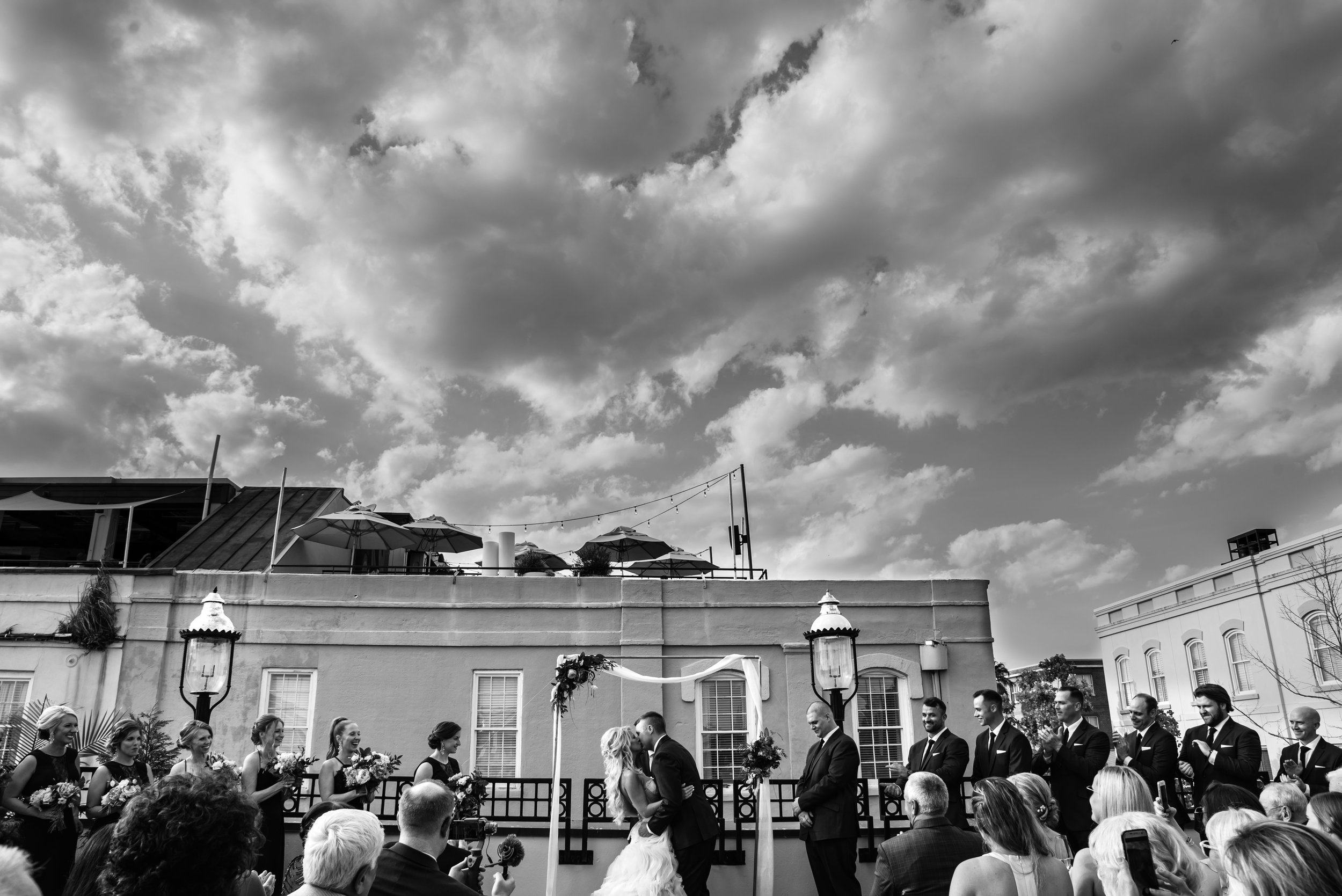 Ceremony at The Harbour Club Charleston by Charlotte Wedding Photographers