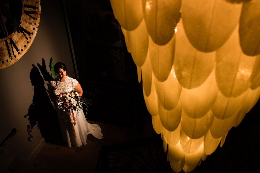 Bridal Portrait at the Ivey's Hotel by Charlotte Wedding Photographers