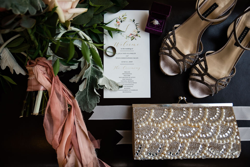 Wedding Details, Flowers, Shoes, Invites at the Levine Museum of the New South by Charlotte Wedding Photographers