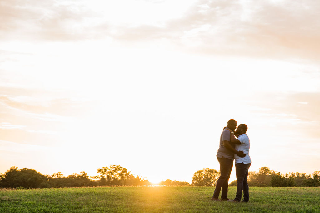 Same Sex Gay Couple Engagement Session Sunset by Charlotte Wedding Photographers