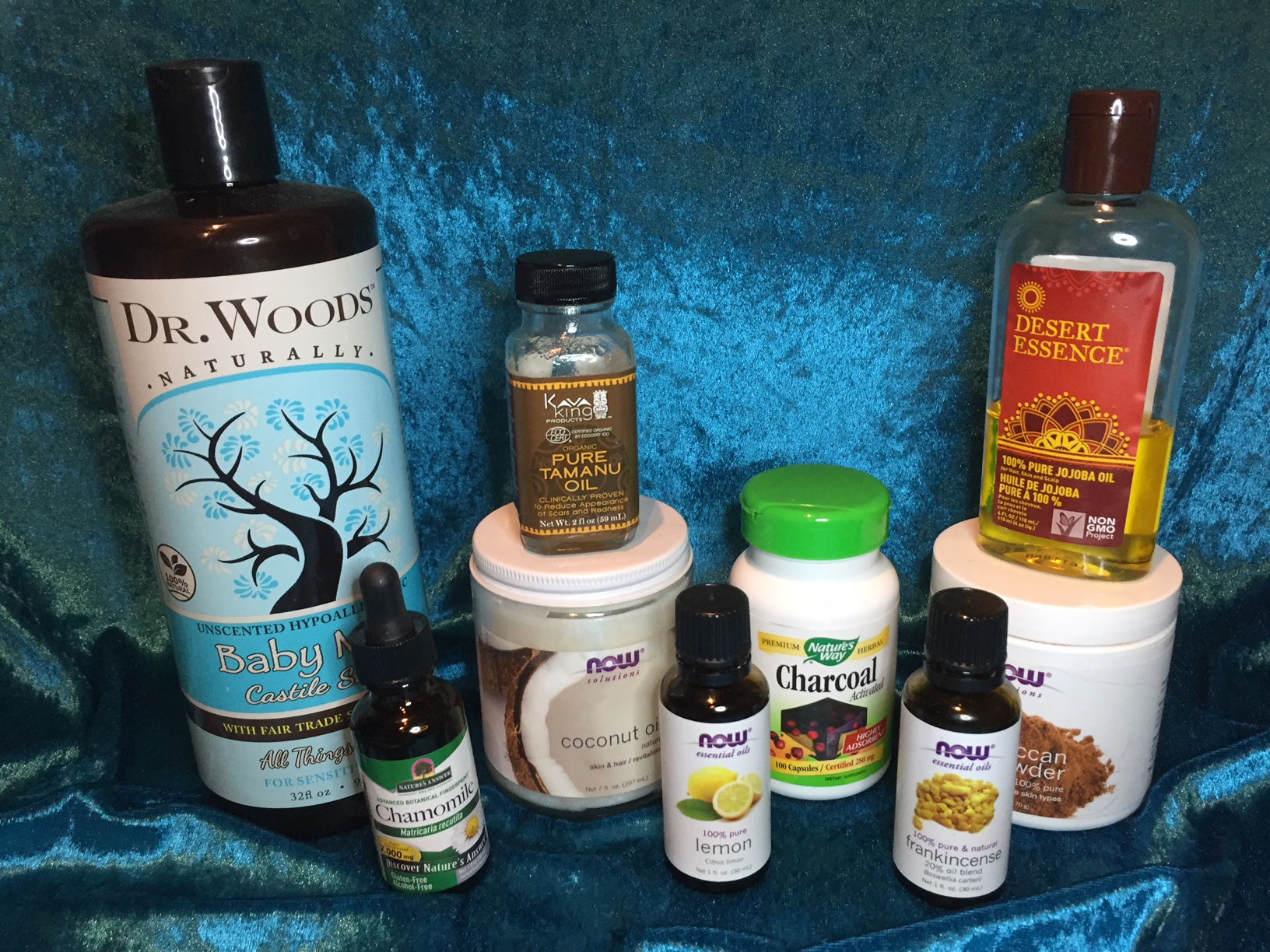 Some of the superstars of my all-natural skincare!