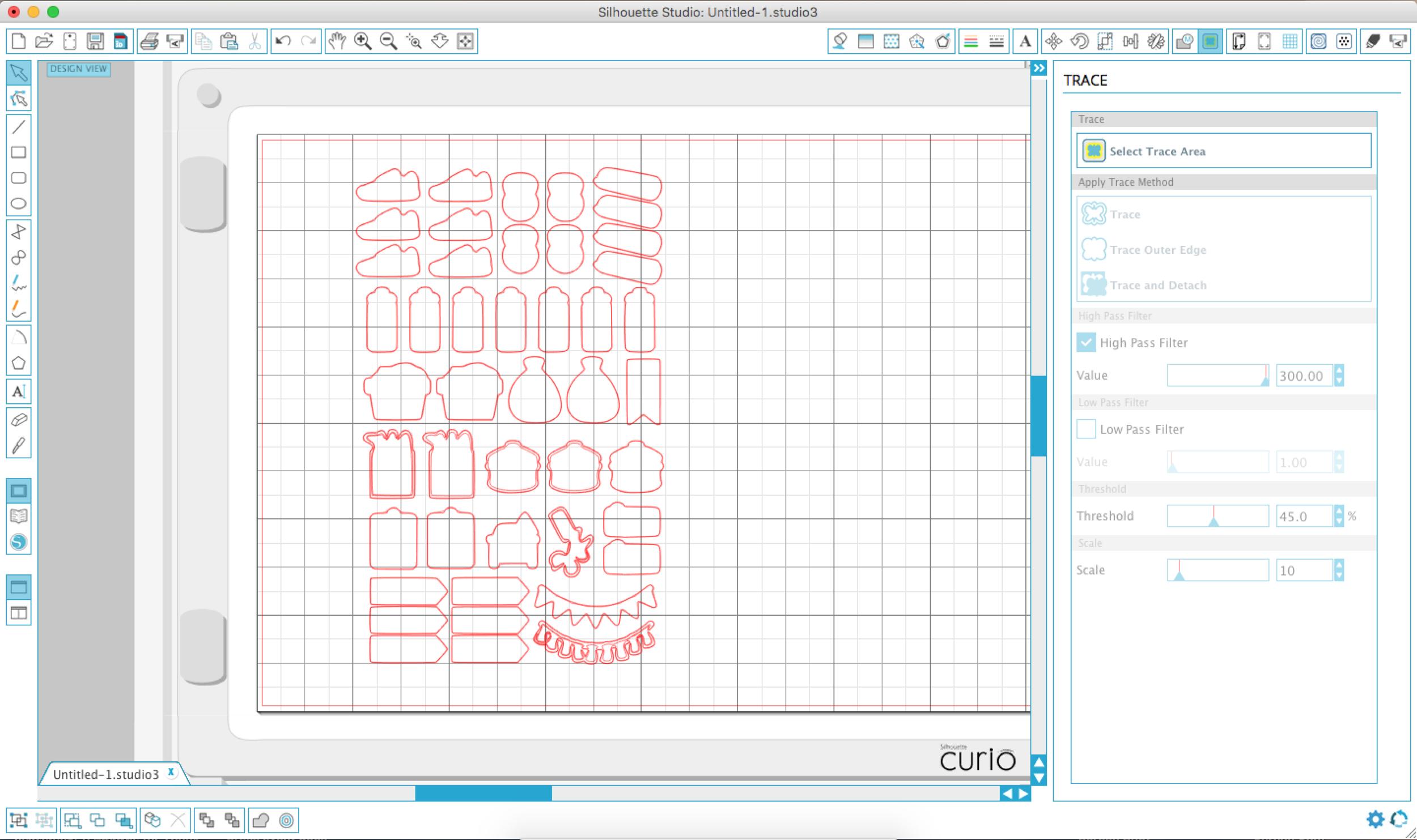 Step 4. Cut sticker borders in Silhouette software