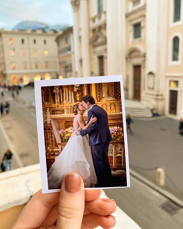 The biggest day of our lives happened yesterday! ❤️ A big thank you to everyone who helped me and my new husband celebrate. And today, after planes, trains, subways, and trams, we're finally in Italy on our honeymoon! Siamo arrivati! #eppilyeverafter