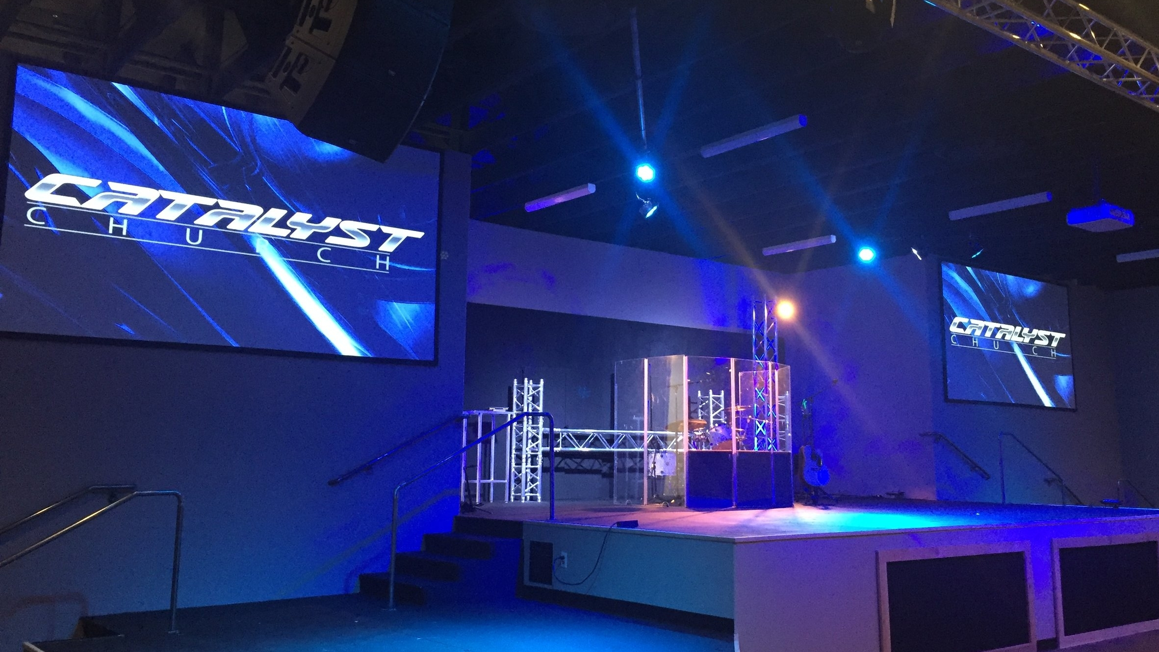 Catalyst Church - Glendale, AZ       (NEC Laser Projectors, QSC Line Array Speaker Systems, Allen & Heath GLD112 Console, BMD ATEM 1M/E Switcher, Studio Camera 4K, Studio Micro Camera 4K)