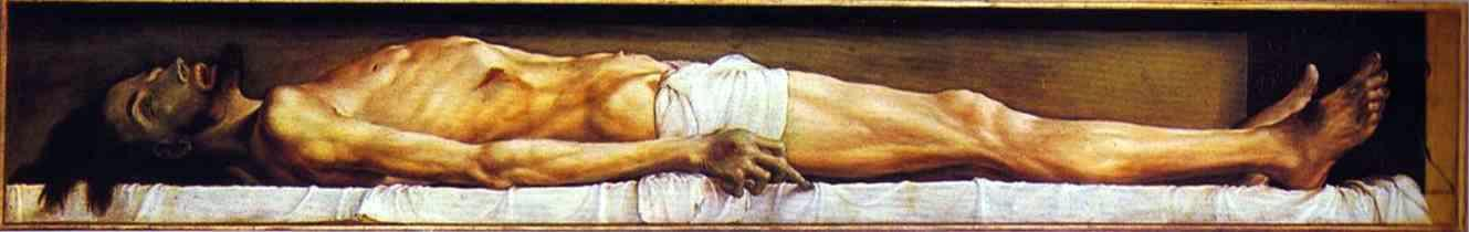 Hans Holbein the Younger - The Body of the Dead Christ in the Tomb (Oil and Tempera - 1520–22)