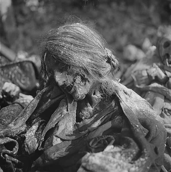 Dresden victim -  Woman 's body in an air-raid shelter