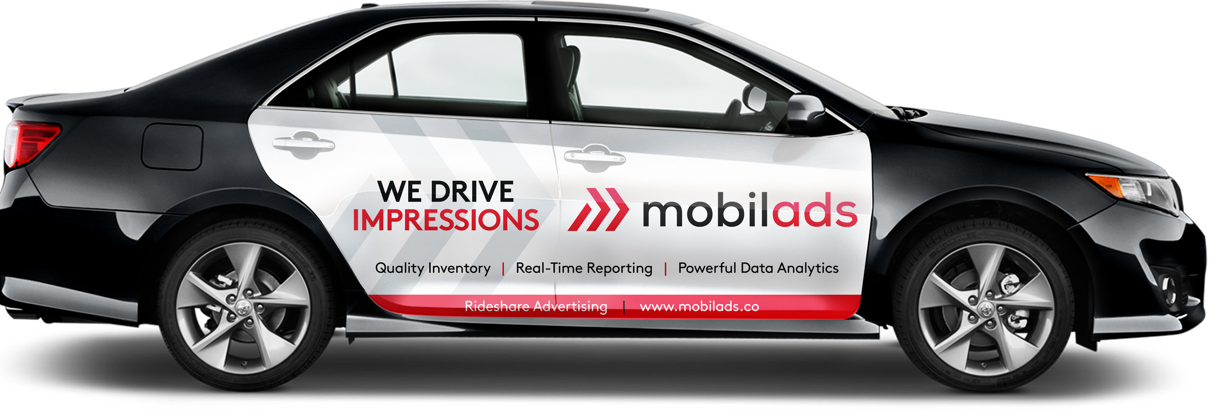 Earn up to $300 a month, doing what you already do. Drive. - High impact advertising at a low cost, reaching 13,000+ daily impressions per car.