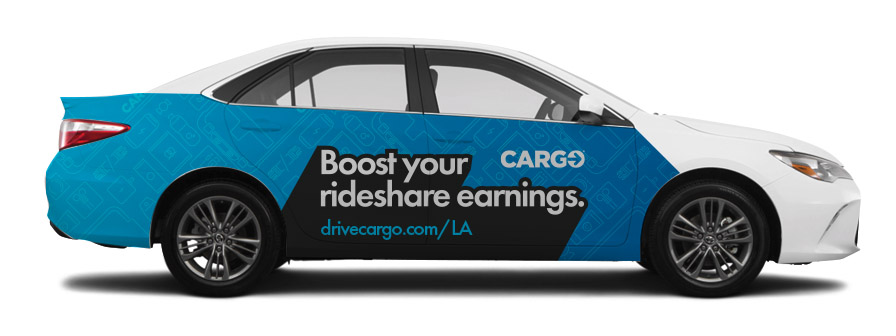 - WE'RE PROUD TO PARTNER WITH CARGO TO PROVIDE RIDESHARE DRIVERS NEW WAYS TO EARN MONEY IN LOS ANGELES!WE'LL WRAP YOUR CAR IN 1 HOUR, YOU DRIVE FOR 8-WEEKS, WE PAY YOU $400!