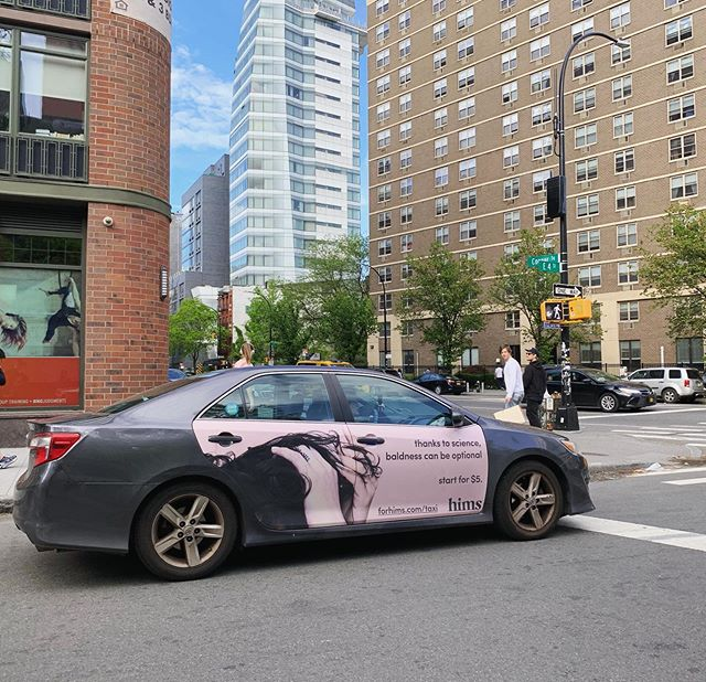 Warm skies and cool ads. . . . . #mobilads #ads #OOH #outsideadvertising #rideshare #cars #uber #lyft #via #campaign #hims #nyc #media #forhims #drive #transitmedia #data #gps #transit #creative #rideshareads #carwrap #CPM #impressions #outdoormedia