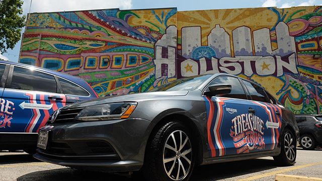 The Amazon @treasuretruck campaign is coming to a close.... Thanks to all our drivers who participated! . . . . #mobilads #ads #OOH #ad #rideshare #uber #lyft #via #campaign #outdoorads #media #texas #treasuretruck #drive #amazon #houston #mural #houstonisinspired #outofhome #ridesharedrivers #ridesharehustle #rideshareincome #extraincome