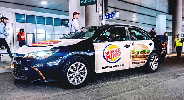 Hungry yet? . . . . #mobilads #ooh #ad #outdooradventures #burgerking #food #haveityourway #atl #uber #lyft #via #rideshare #location #data #nyc #houston #la #tech #drive #airport