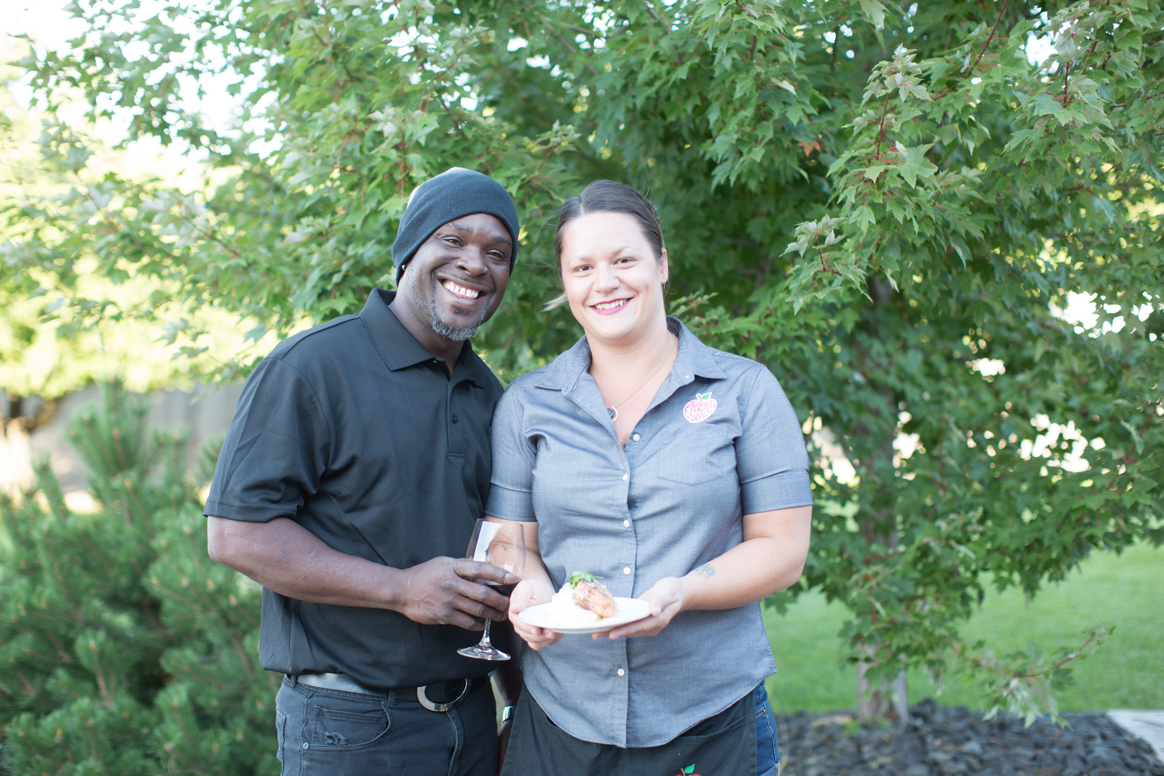 Rioan and Sabrina, owners of Greenbluff Fresh Catering Company