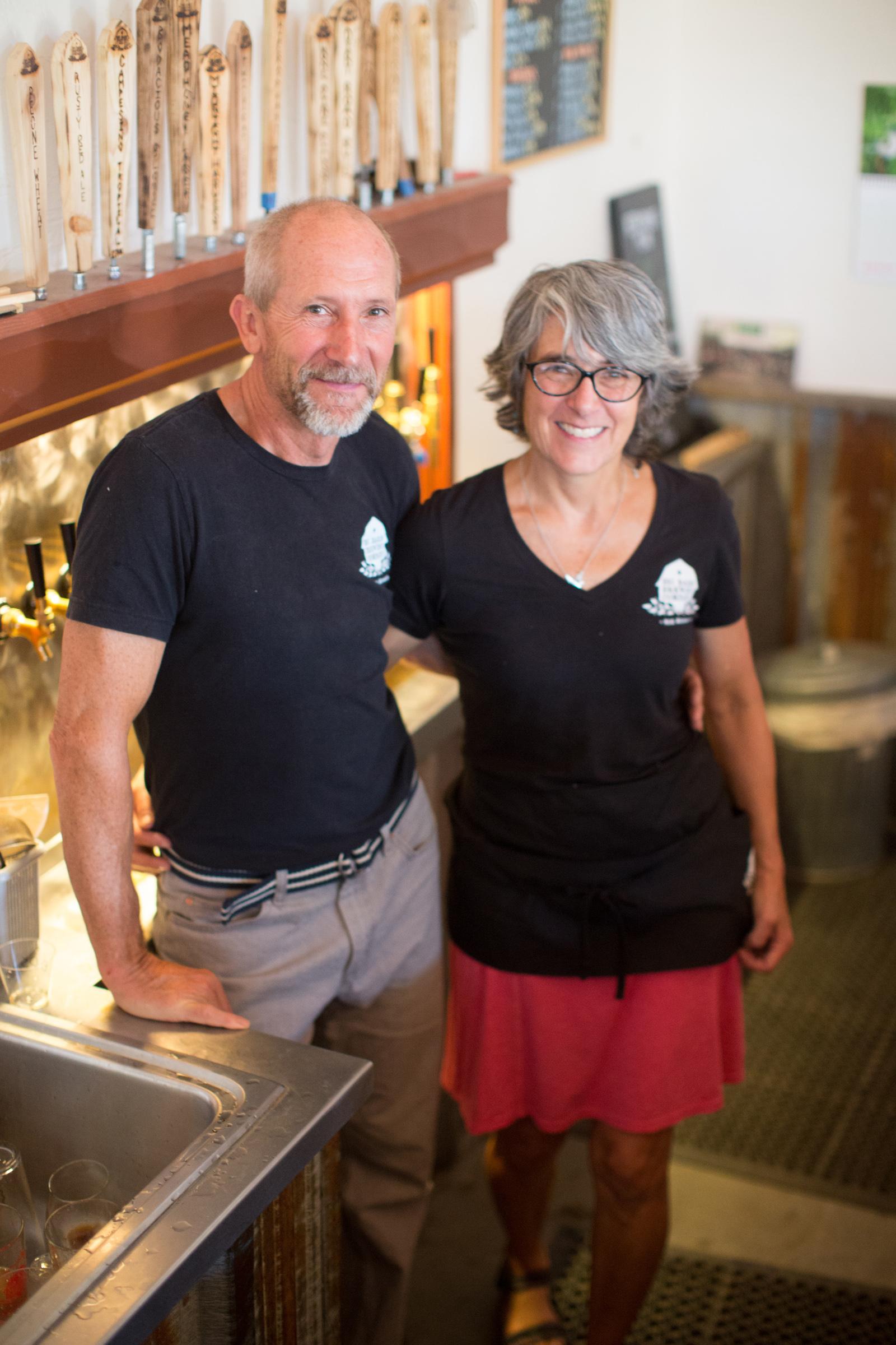 Craig and Jane Deitz, owners of Big Barn Brewing
