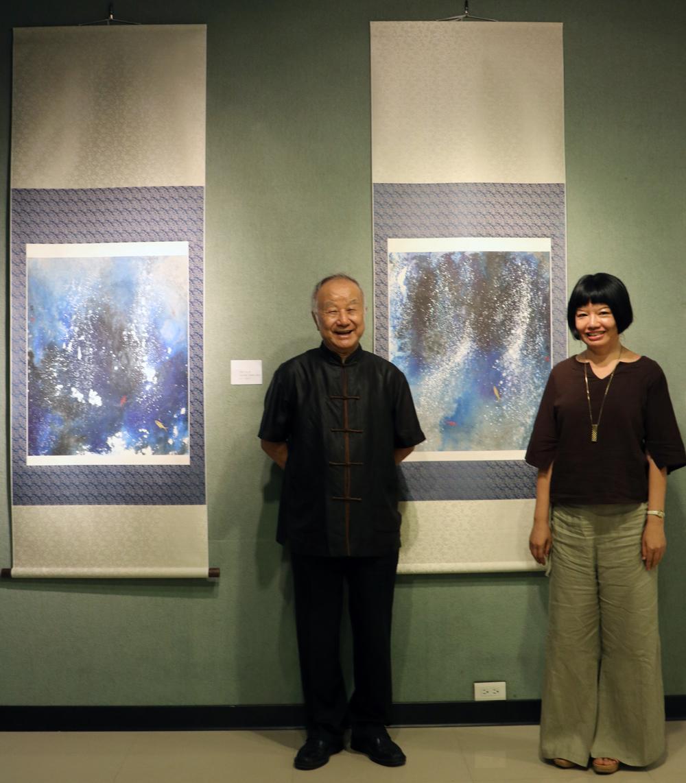 現代水墨之父劉國松教授蒞臨指導 / 師大德群藝廊「當代圖紀─兩岸藝術特展」