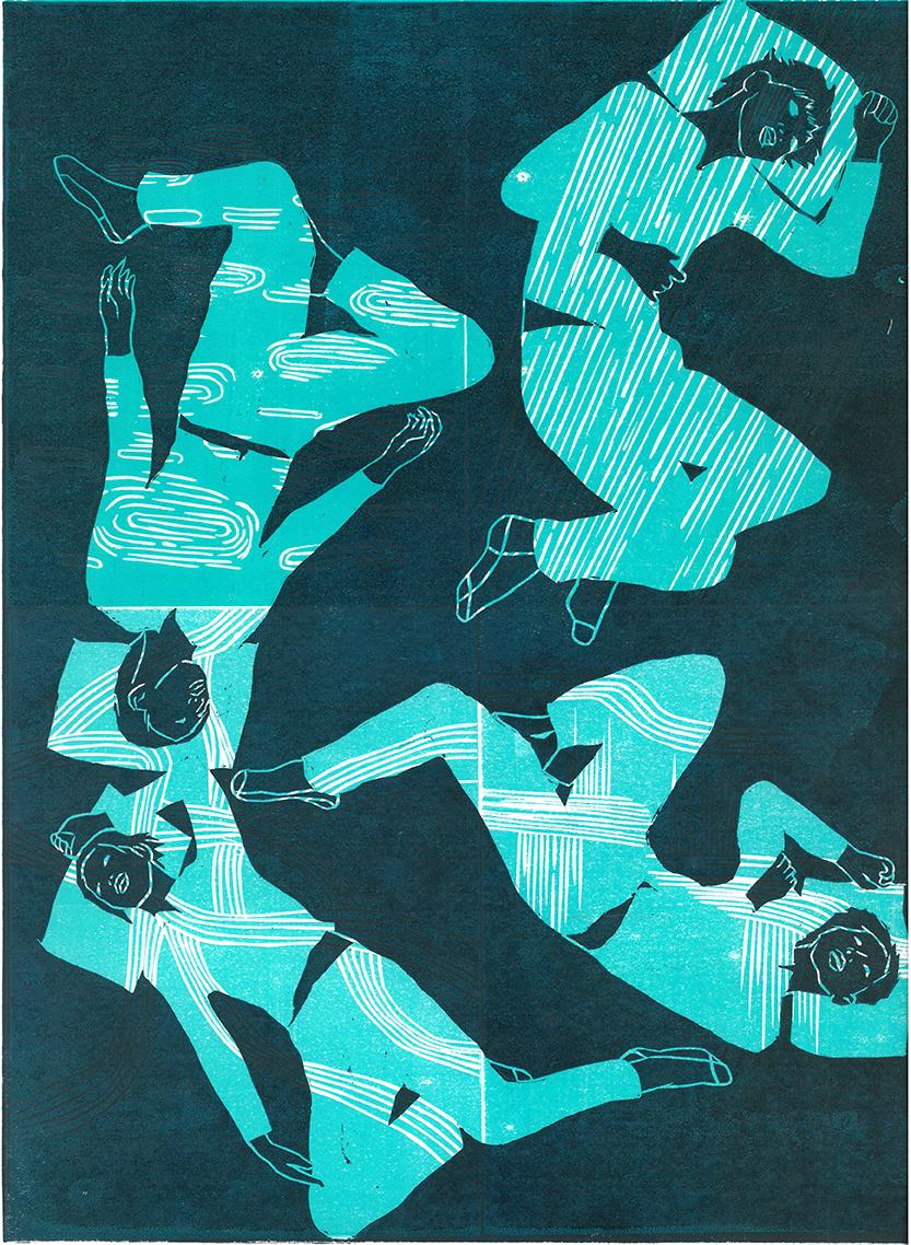Dreams Tonite  Relief print / 2015