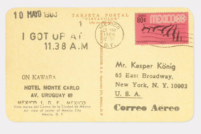 On Kawara:  I Got Up , 1968-79, via  Guggenheim .