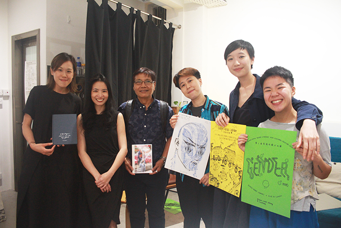 26 / 4 / 2019  Was a pleasure to discuss the intimacy of printed matter, Filipino pocketbooks and queering publications with Marrz and Serene tonight. Thanks to  Cha  for co-hosting and  Swing a Cat  for sharing space!